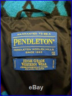 Pendleton High Grade Western Wear Mens Jacket Coat Aztec Indian Size Small