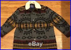 Pendleton High Grade Western Wear Mens Jacket Coat Sherpa Aztec Blanket XXL