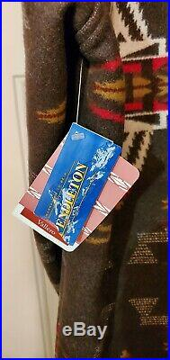 Pendleton High Grade Western Wear Mens Wool Native Blanket Jacket Coat Large