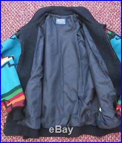 Pendleton High Grade Western Wear Native Indian Blanket Jacket Coat Sz. Lg