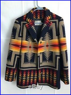 Pendleton High Grade Western Wear Wool Blanket Jacket Navajo Coat Men S Women M