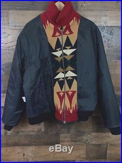 Pendleton High Grade Western Wear Wool Men's Jacket Multi Color Diamonds- Large