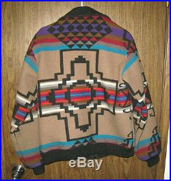 Pendleton High Grade Western Wear Wool VINTAGE Jacket Aztec Navajo Indian Sz. L
