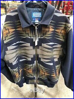 Pendleton Jacket High Grade Western Wear Mens Large 83% Wool 17% Cotton