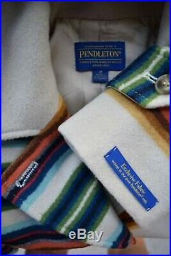 Pendleton La Grande coat wool Aztec southwest Mexican stripe blanket jacket M