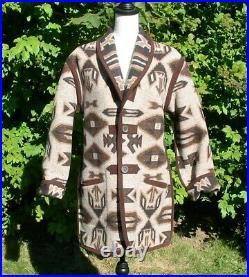 Pendleton Ladies Reversible Wool Blanket Jacket Coat S EUC