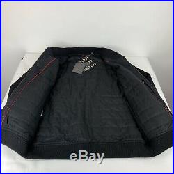 Pendleton Mens Black Geo Abstract Tribal Western Wear Bomber Jacket Size XLarge