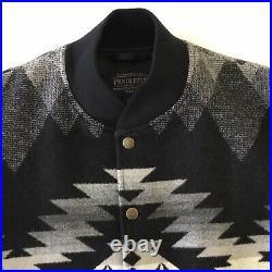 Pendleton Mens Gorge Wool Bomber Jacket Southwestern Aztec Size Medium Coat