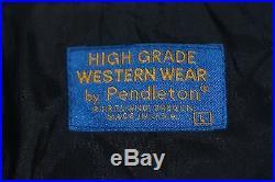 Pendleton Mens L Coat Jacket High Grade Western Wear Indian Wool Blanket Bomber