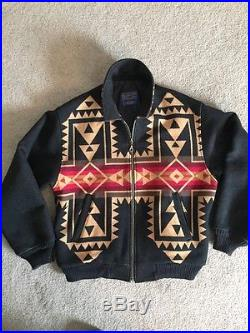 Pendleton Mens L Coat Jacket High Grade Western Wear Indian Wool Blanket Coat