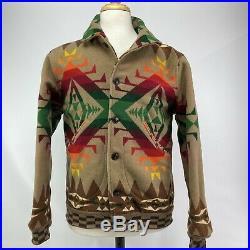 Pendleton Mens Med High Grade Western Wear Balancing Rock Jacket Indian Blanket