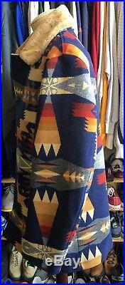 Pendleton Shearling Coat Tribal NWT New Wool Tucson Western XL Jacket Blanket