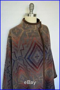 Pendleton Sunset Cross Mesquite wool blanket Aztec cape poncho jacket coat NWT