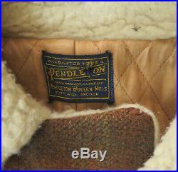 Pendleton Vintage Jacket 60's 1960's Woolen Mills Car Coat Southwest Western