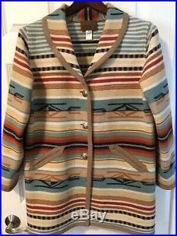 Pendleton Virgin Wool Women's Medium Reversible Blanket Jacket Western Coat