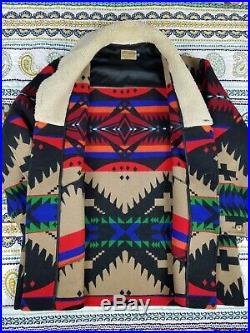 Pendleton Western Wear Southwestern Wool Blanket Sherpa Coat Jacket Mens 46 2XL