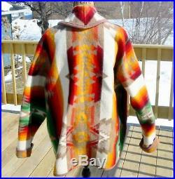 Pendleton Wool Blanket Jacket Coat Reversible Ladies XL-XXL EUC Concho Buttons