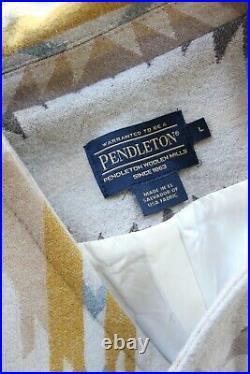 Pendleton wool Aztec southwest Mexican Navajo blanket coat jacket cape poncho