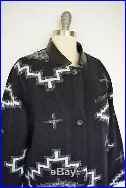 Pendleton wool Topper Kiva Aztec southwest Mexican blanket coat jacket NWT $449
