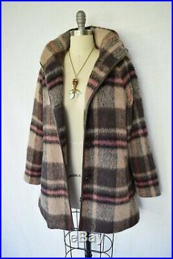 Pendleton wool alpaca blanket plaid aztec southwest jacket coat leather $479