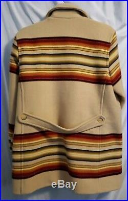 Pendletonn Women's Striped Aztec Native American Western Jacket Coat Sz Small