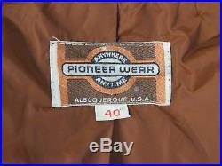 Pioneer Wear Vintage Fringe 70s Mens Western Rockabilly Hippie Leather Jacket
