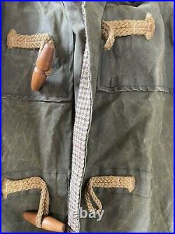 Polo Ralph Lauren Long Waxed Western Hooded Duster Duffle Coat Jacket Large