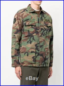 Polo Ralph Lauren Men Vtg Retro Military Army Camo Surplus Soldier Camp Jacket