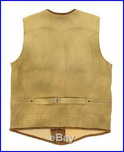 Polo Ralph Lauren RRL Hidalgo Leather Western Vest Jacket New $1200