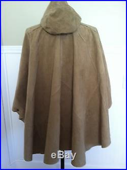 Ralph Lauren Blue Label Suede Cape Poncho Coat Jacket