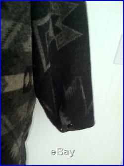Ralph Lauren Country Indian Blanket Jacket Coat Aztec Western Beacon Wool Black