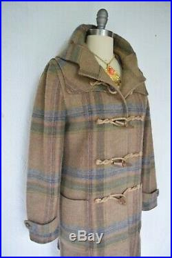 RALPH LAUREN RUGBY tartan nova Plaid check wool duffel toggle coat jacket $698 8