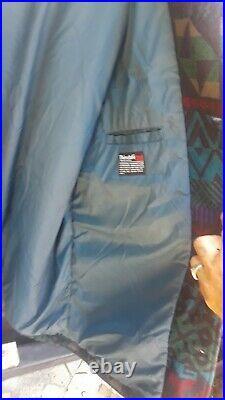 RARE BIGBOY 2X 3X TALL Vintage PENDLETON Wool Western AZTEC Blanket Coat USA