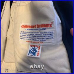 RARE ENGINEERED GARMENTS POPLIN NAVY MELTON WOOL Jacket Coat M MENS NEPENTHES