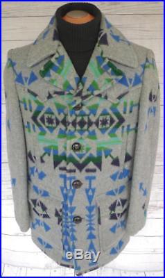 RARE PENDLETON CHIEF Joseph WESTERN Wear WOOL BLANKET JACKET Coat NAVAJO Indian