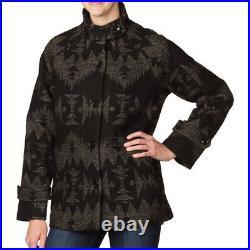 RARE PENDLETON PORTLAND Collection TOBOGGAN Blanket WOOL COAT Jacket WOMEN sz XS