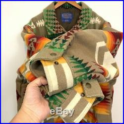 RARE Pendleton Insulated WOOL South Western Navajo Chief Jacket Size XL Aztec