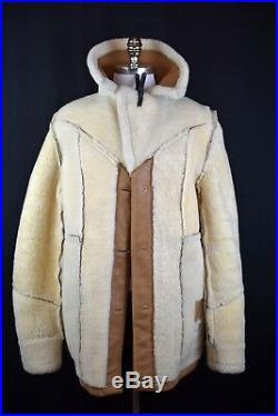 RARE! VTG Men's Stetson Sheepskin Leather Jacket REAL SHEARLING Coat Western 40