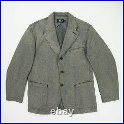 RRL Ralph Lauren (L)Gray Faded Cotton 3Button Western Professional Jacket/Blazer