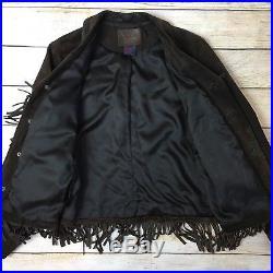 Ralph Lauren Brown Suede Fringe Western Jacket Boho Womens Medium M