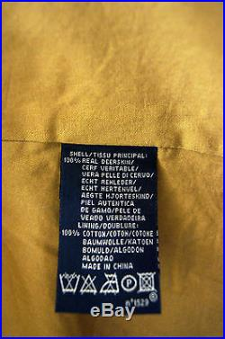 Ralph Lauren Deer Skin Leather Tassels Jacket, Western / Native American Style L