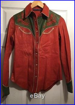 Ralph Lauren Msrp $1'298.00 Women 100% Pure Leather Size 4 Western Style
