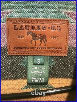 Ralph Lauren RL Wool Coat Jacket Western Southwest Blanket Women's Size Small