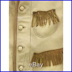 Ralph Lauren RRL Hidalgo Leather Western Vest Jacket S New $1200