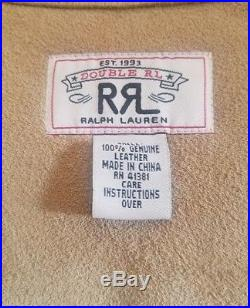Ralph Lauren RRL Suede Leather Western Vest LARGE