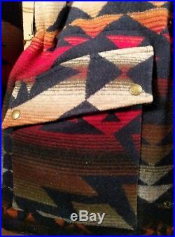 Rare PENDLETON Vintage High GRADE WESTERN Wear WOOL BLANKET JACKET Coat Navajo