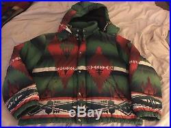Rare Polo Ralph Lauren Indian Beacon Western Down Hooded Coat Jacket XXL 2XL