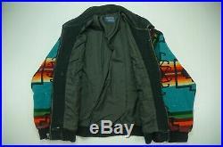 Rare Vintage PENDLETON High Grade Western Wear Southwestern Blanket Jacket 90s L