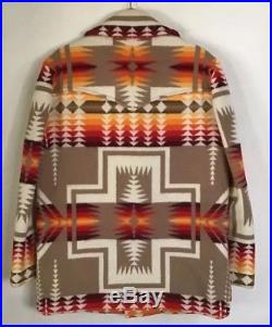 Rare Vintage Pendleton Chief South Western Joseph Wool Coat SZ L-XL