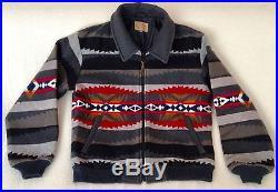 Rare Vtg PENDLETON SW Blanket Wool Coat/Bomber Jacket High Grade Western Wear M